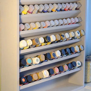 Photo: Craft Paint Storage Project