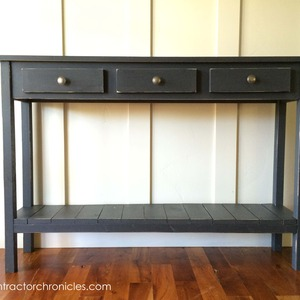 Faux Drawer Farmhouse Console Table