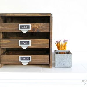 Photo: Desktop File Drawers Project
