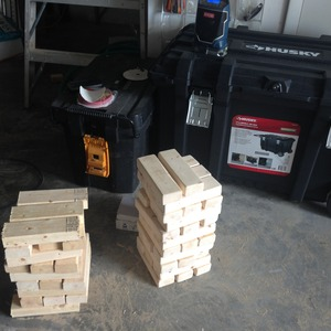 Jumbo Sized Jenga Tailgate game