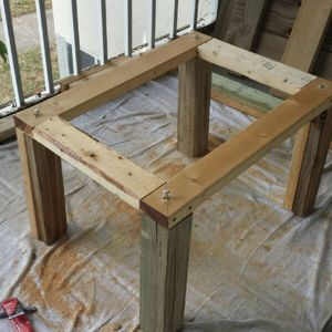 Fence wood shoe cabinet (Hurricane Matthew)