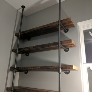 Kitchen Pipe Shelves