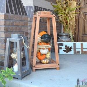Photo: Rustic Wood Lanterns Project