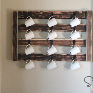 Photo: DIY Coffee Mug Display Project