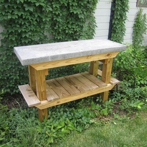 Super Tuff Concrete & Wood Potting /Grilling table