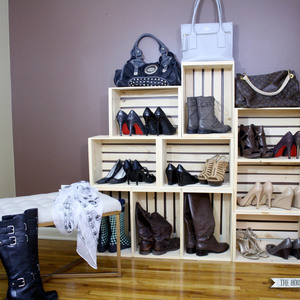 Photo: Crate Shoe Storage Project