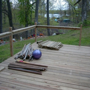 Deck expansion with benches