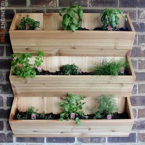 Photo: Cedar Wall Planter Project