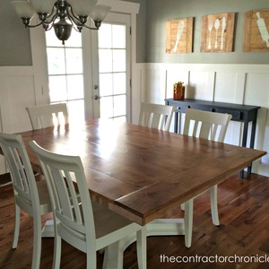 Cherry and White Farmhouse Table Revamp