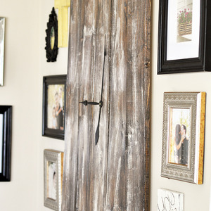 Over-sized Rustic Wooden Clock