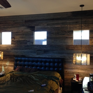 Barnwood Plank Bedroom Wall Ryobi Nation Projects
