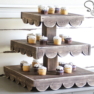 Photo: Fancy Rustic Cupcake Stand Project