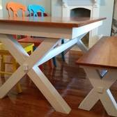 Cherry Kitchen Table And Bench