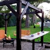 Fall Oasis  Pergola Seating For Cookouts & Campfires!