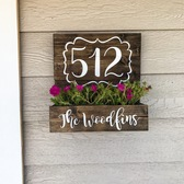 Shanty Inspired Address Number Wall Planter