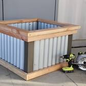Corrugated Raised Garden Beds