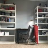 Home Office Desk And Shelves