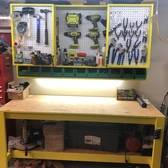 Garage Work Bench With Tool Storage Cabinet