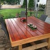 Patio Table With Planters