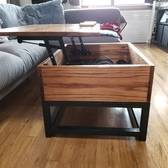 Pull Up Coffee Table With Storage And Charging Capabilities