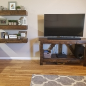 Tv Console And Floating Shelves