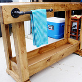 Workbench Coffee Bar Console