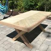 X Leg Herringbone Table(S)