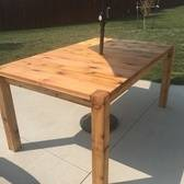 Outdoor Cedar Patio Table
