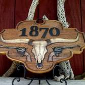 Longhorn Address Plaque