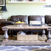 DIY Restoration Hardware-Inspired Balustrade Coffee Table